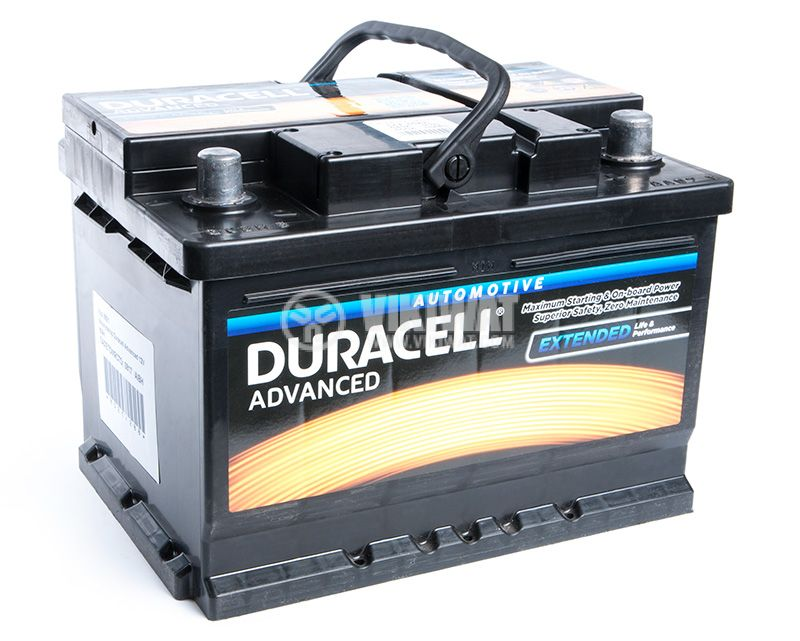 Car battery, 60Ah, starter, 12VDC, DURACELL DA 60T - 1