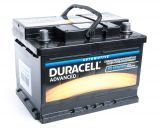 Car battery, 60Ah, starter, 12VDC, DURACELL DA 60T