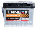 Car battery, 60Ah, semi-traction, 12VDC, ENNEXY Plus