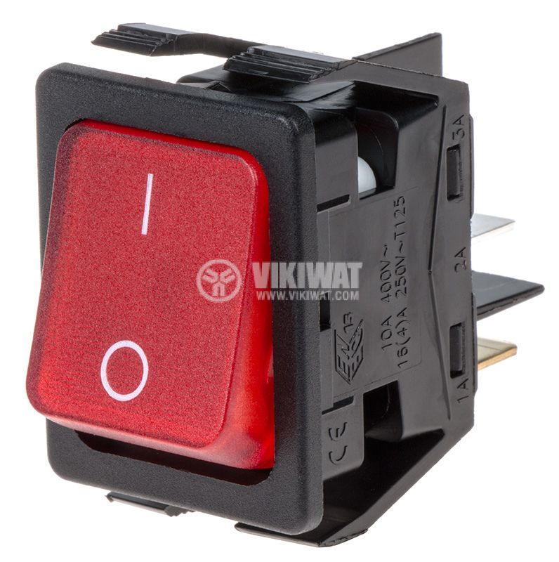 Rocker switch with 2 positions OFF-ON 16A/250V - 1