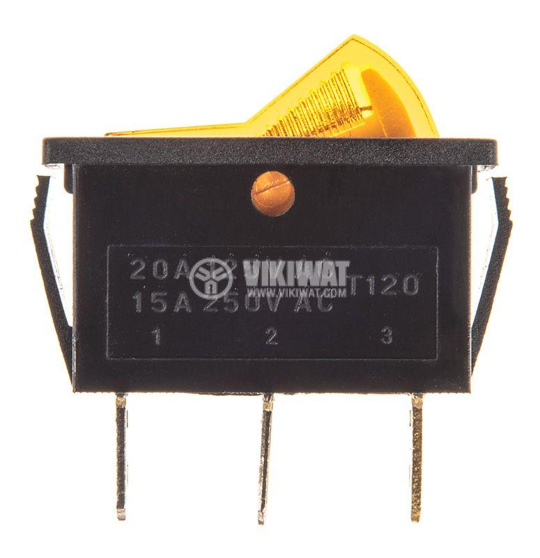 Rocker превключвател, 2 позиции, OFF-ON, 15A/250VAC, отвор 32x11mm - 2
