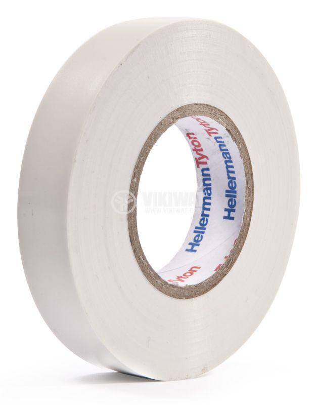 PVC INSULATING TAPE HTAPE-FLEX15-15x25-PVC-WH, 15MM X 25M, WHITE - 1