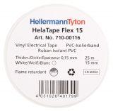 PVC INSULATING TAPE HTAPE-FLEX15-15x25-PVC-WH, 15MM X 25M, WHITE - 2