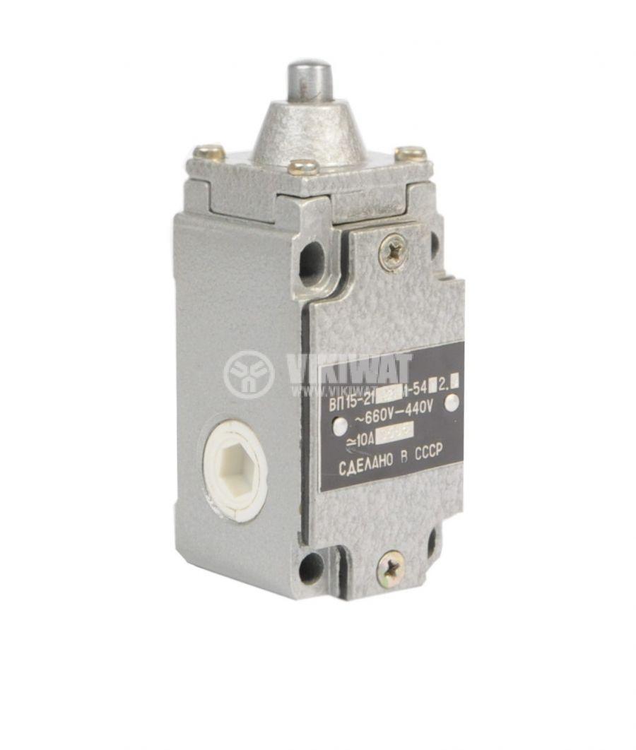 Limit Switch VP15-21А211-54U2.8, 1NO+1NC, 10A/660VAC, plunger - 1