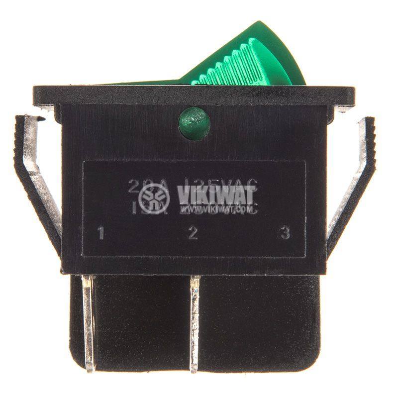 Rocker Switch, 2-position, OFF-ON, 15A/250VAC, hole size 28x22mm - 2