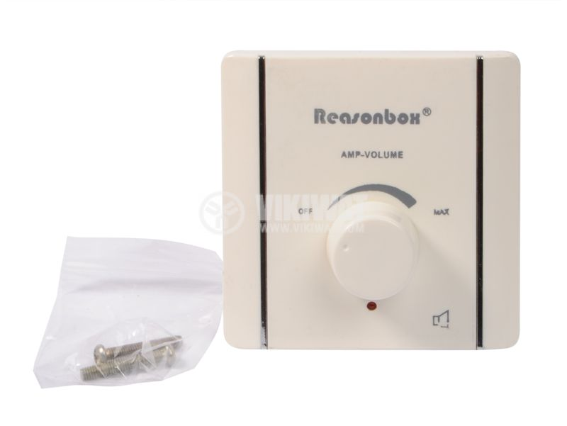 Volume control, VC-305, 3W, wall mount, white - 1