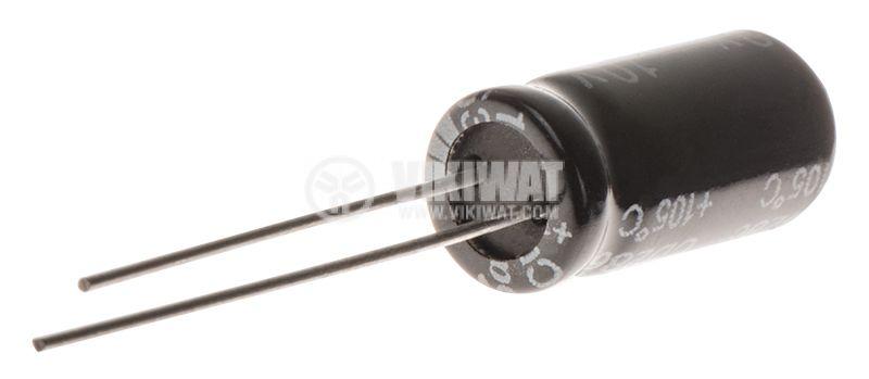 Кондензатор електролитен 630uF, 10V, THT, ф8x16mm, Low ESR, нисък импеданс - 2