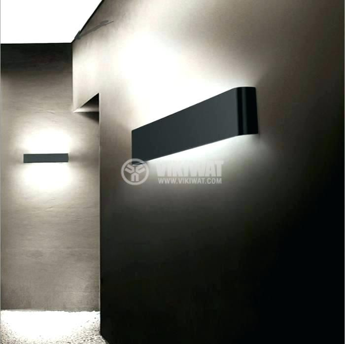 LED wall light AVVA=WL3, 8W, 220VAC, 400lm, 3000K, warm white, IP20, non-waterproof, BH07-03201, black body - 3