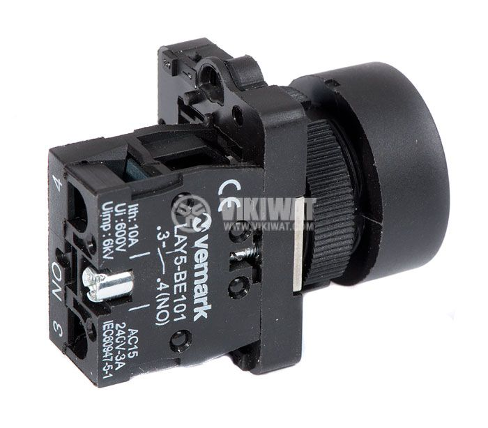Button Switch, LAY5-EA3351, SPST - NO - 3