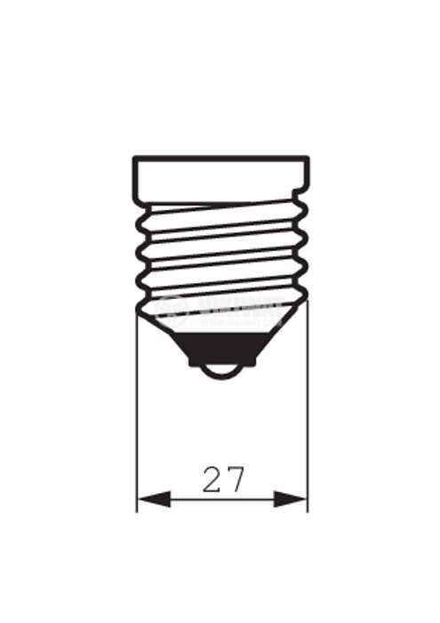 Кварцова лампа, E27, 230 VAC, 150W - 3