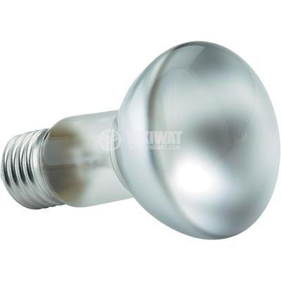 Обикновена лампа 230VAC, 40W, E27, R63, матова - 1