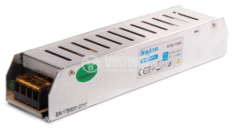 LED захранване 24VDC, 4.2A, 100W, IP20, BYO2-11000 - 7