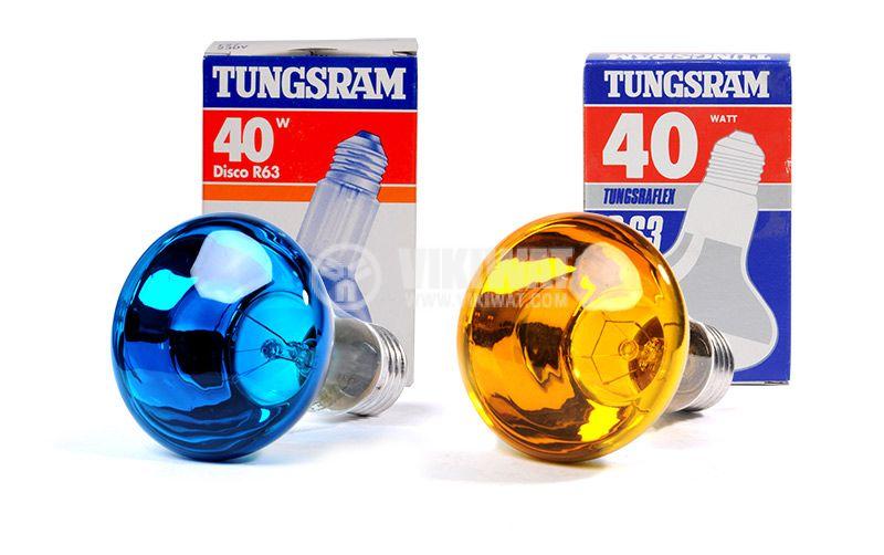 Обикновена лампа 230 VAC, 40 W, E27, R63, цветна - 3