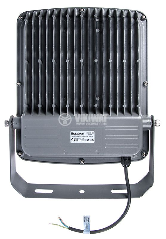 LED прожектор 150W 220V 12750lm 6500K студенобял IP65 влагозащитен SLIM, BT61-09432 - 3