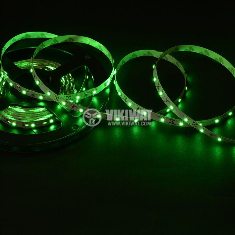 LED лента ECOLINE 3528, 60LED/m, 4.8W/m, 12VDC, IP20, невлагозащитена, зелена, BS45-0104 - 2