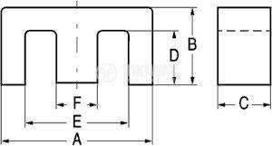 Феритен магнитопровод E55 - 2