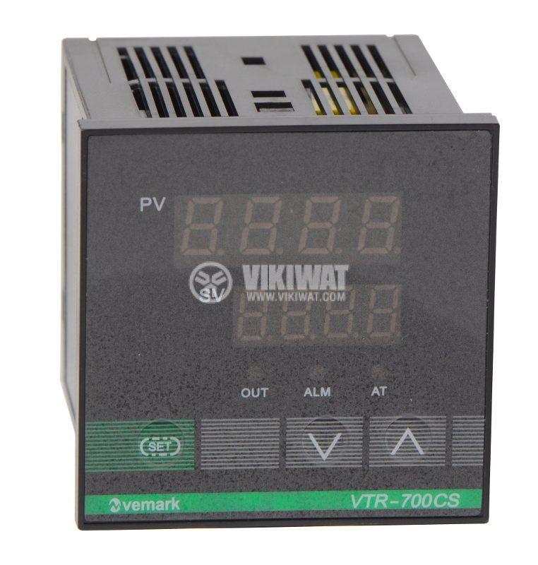 Temperature controller VTR-700CS, 220VAC, 0-400°C, TC type J, SSR output - 1