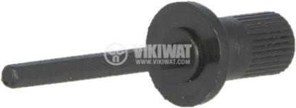 Копче за тример потенциометър, регулираща ос, черен, 12/21mm - 2