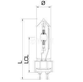 Metal-halide lamp G12, 150 W, 1.8 A, blue - 2