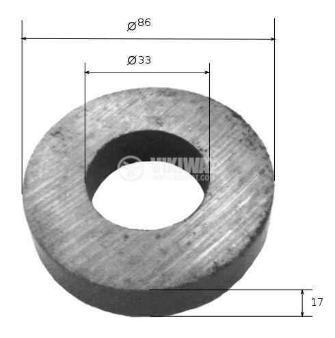 Toroidal magnet 86x33x17 mm - 2