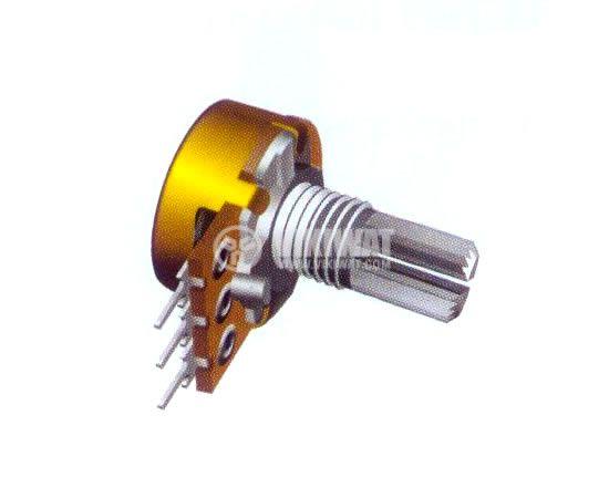 Потенциометър линеен моно въглероден 10kOhm 0.5W WH120-2-18T - 1