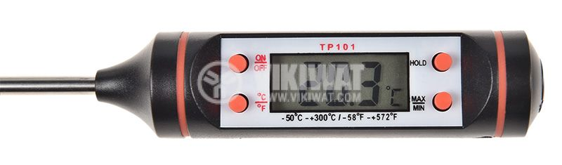 Food thermometer, TP101, -50°С  - +300°С, with memory - 3