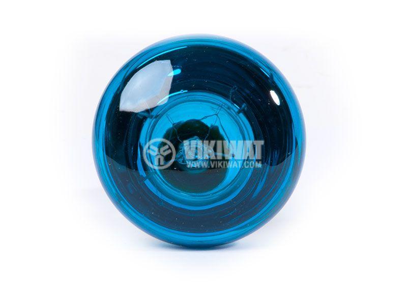 Обикновена лампа 220VAC, 40W, E14, R50, синя - 2