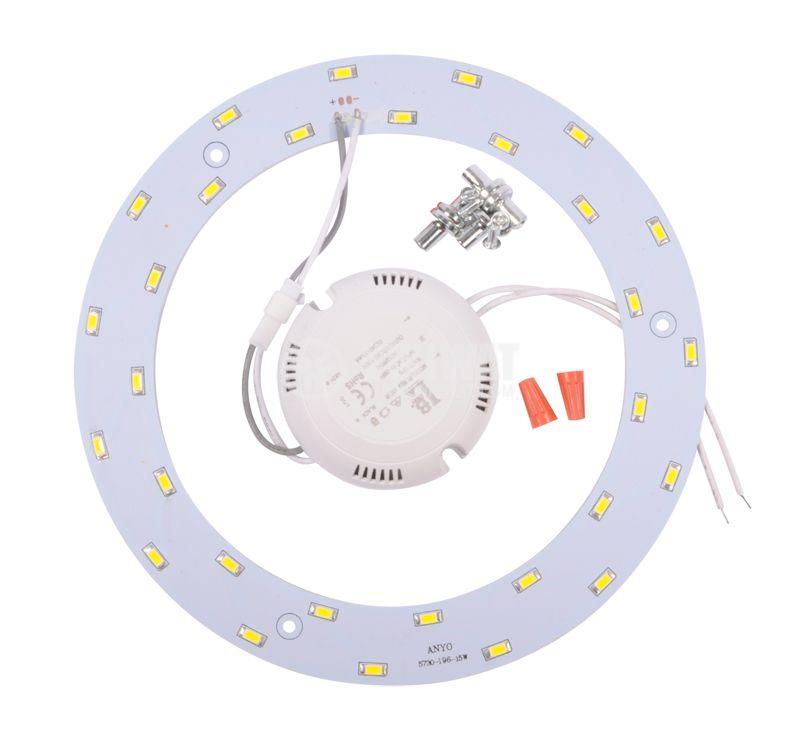 LED ринг BL438-15W/DW, 15W, 85/265VAC, 4200K - 1