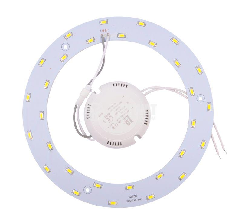 LED ринг BL438-15W/DW, 15W, 85/265VAC, 4200K - 2