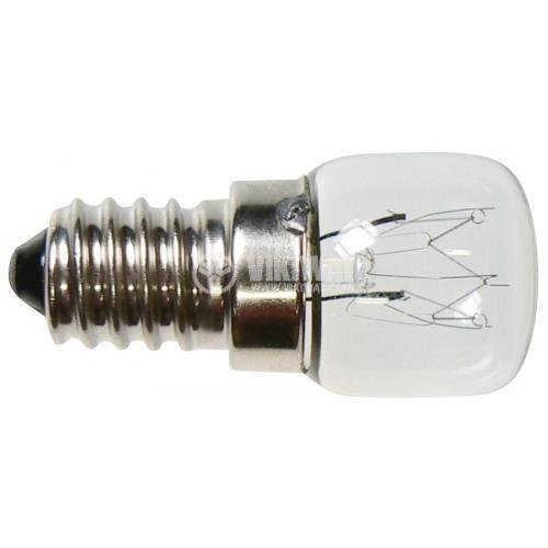 Обикновена лампа Z6911, 230 VAC, 15W, E14, 300 °C, за готварски печки