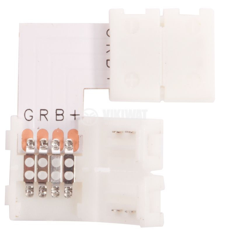 Connecting connector for LED RGB, angled - 2