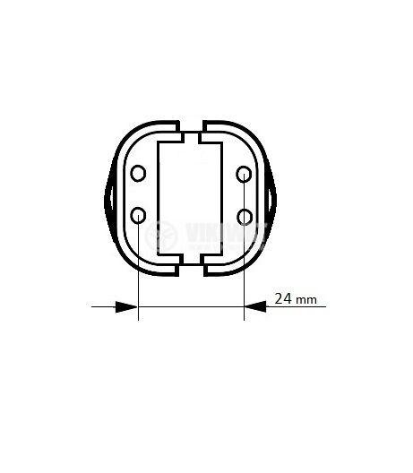 Цокъл за PL лампа, 4пина, G24q, GX24q - 3