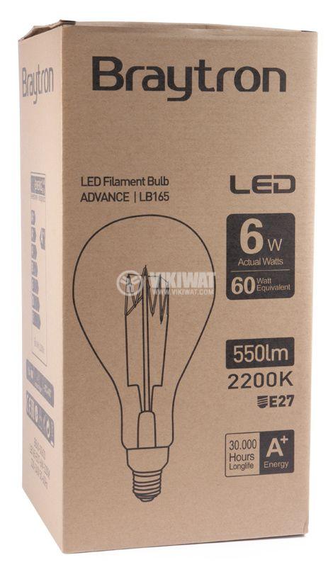 LED Lamp BB60-00620, E27, 6W, 2200K, 550LM, warm white - 5
