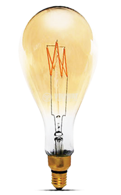 LED FILAMENT bulb 6W, E27, 220VAC, 550lm, 2200K, warm white, BB60-00620 - 2
