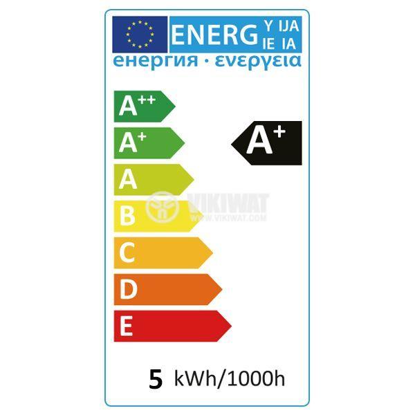 LED лампа 8W, E27, A60, 220VAC, 650lm, 4200K, неутрално бяла, BA13-00821 - 3