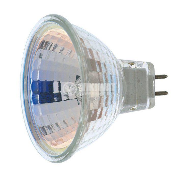 Халогенна лампа MR16, GU5.3, 12 V, 35 W, открита, бяла