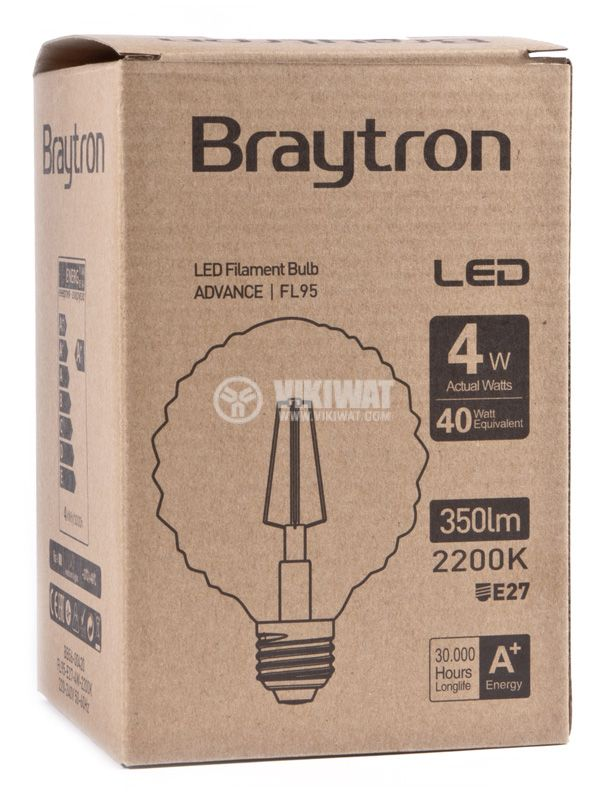LED bulb BB56-00420, E27, 4W, 2200K, 350LM, warm white - 3