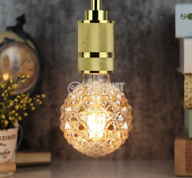 LED FILAMENT bulb FL95, 4W, E27, 220VAC, 350lm, 2200K, extra warm white, amber, BB56-00420 - 3