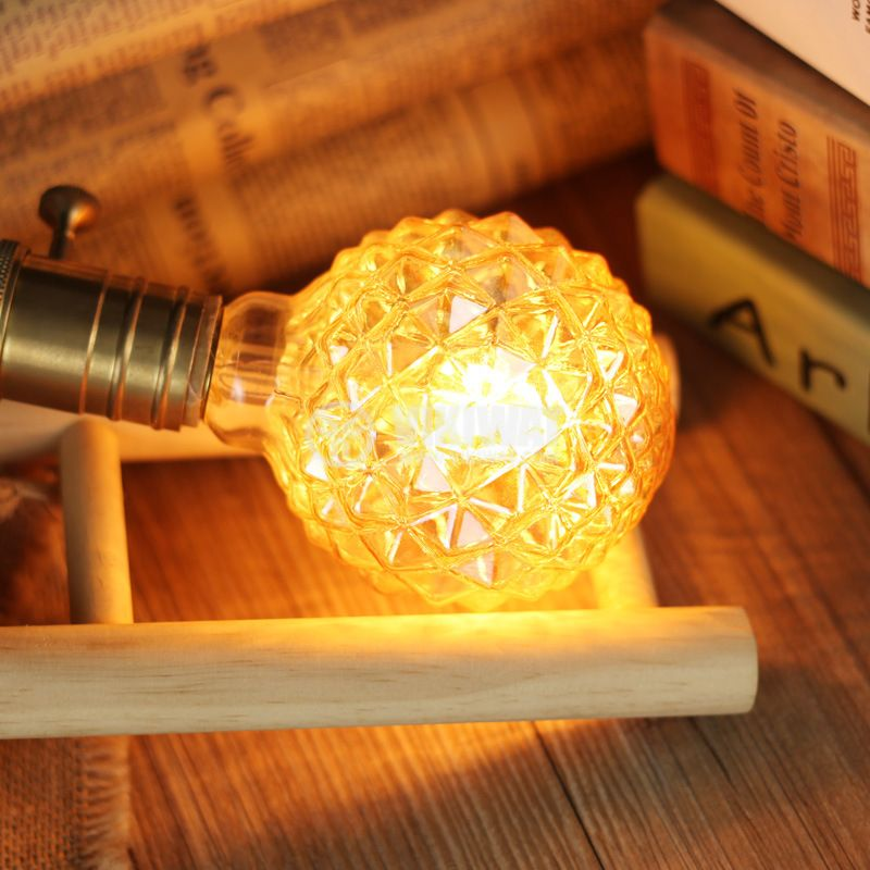 LED FILAMENT bulb FL95, 4W, E27, 220VAC, 350lm, 2200K, extra warm white, amber, crystal pineapple, BB56-00420 - 4