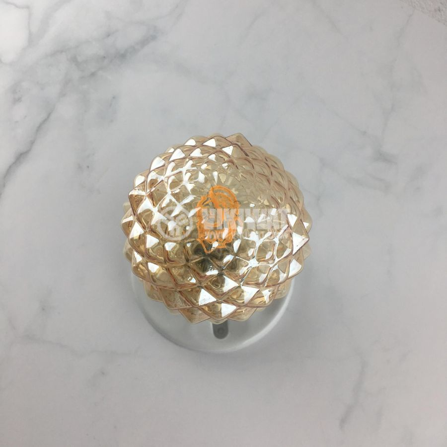 LED лампа FILAMENT FL95, 4W, E27, 220VAC, 350lm, 2200K, топлобяла, amber, кристал/ананас, BB56-00420 - 10