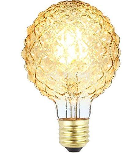LED лампа FILAMENT FL95, 4W, E27, 220VAC, 350lm, 2200K, топлобяла, amber, кристал/ананас, BB56-00420 - 8