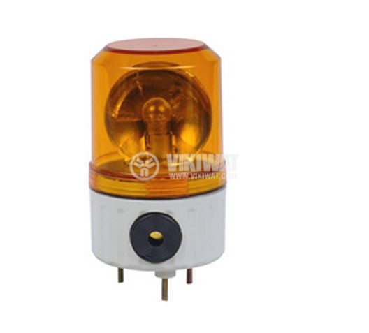 Rotating signal lamp, LTE1081J, 12 VDC, 5 W, Amber - 1