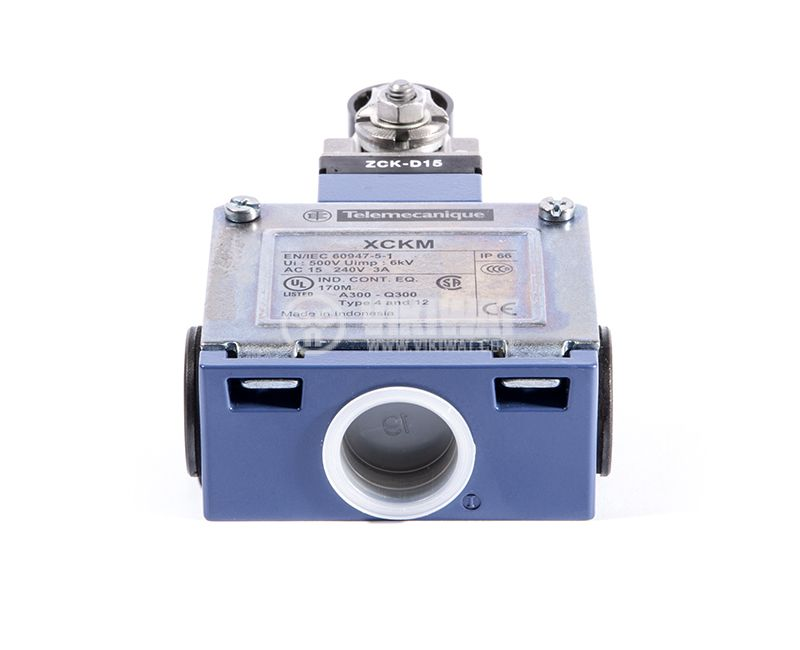 Limit Switch XCKM, 2NO+2NC, 15A/250VAC, roller with lever - 3