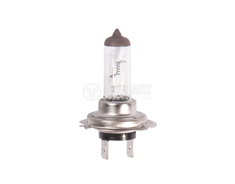 Automotive lamp halogen standard H7, 12 VDC, 100 W, PX26D, 3000K, toplobyal, 34x55mm, short and long, UV Block + 30% - 1
