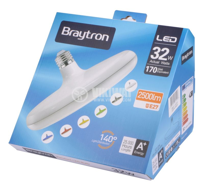 LED lamp, 32W, 2700LM, 3000K, warm white - 4