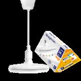 LED лампа UFO, 24W, E27, 220VAC, 1900lm, 3000K, топлобяла, BB01-02420, бял корпус