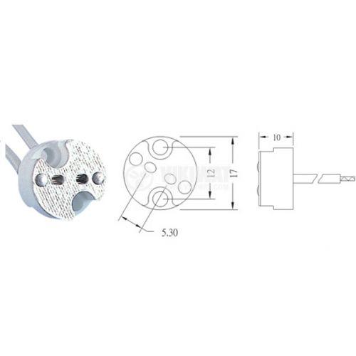Фасунга G5.3, керамична, за халогенни луни и ампули - 1