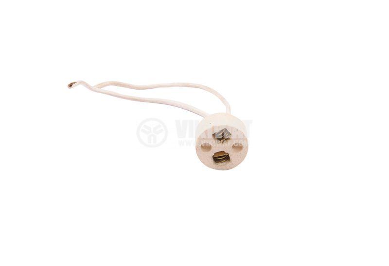 Фасунга G5.3, керамична, за халогенни луни и ампули, с пружини - 2
