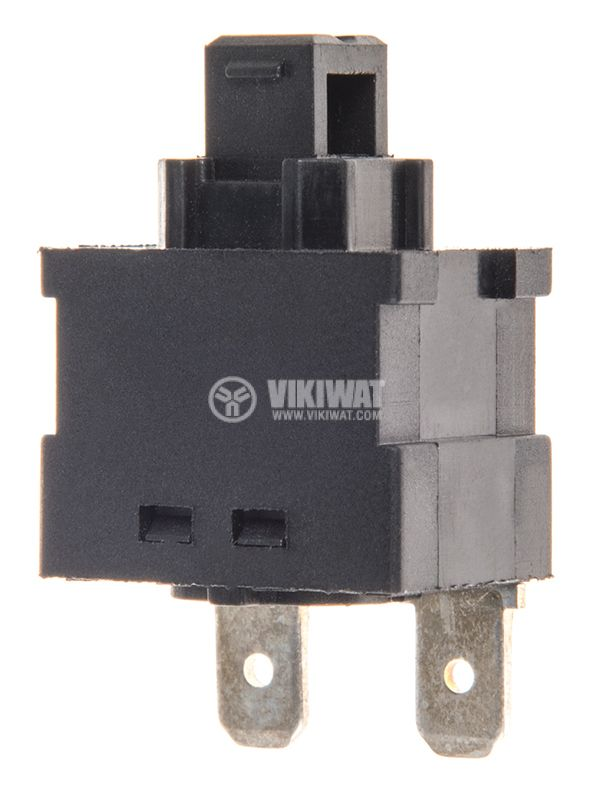 Button, PS102A, 16 A / 250 VAC, NO, SPST, with hold