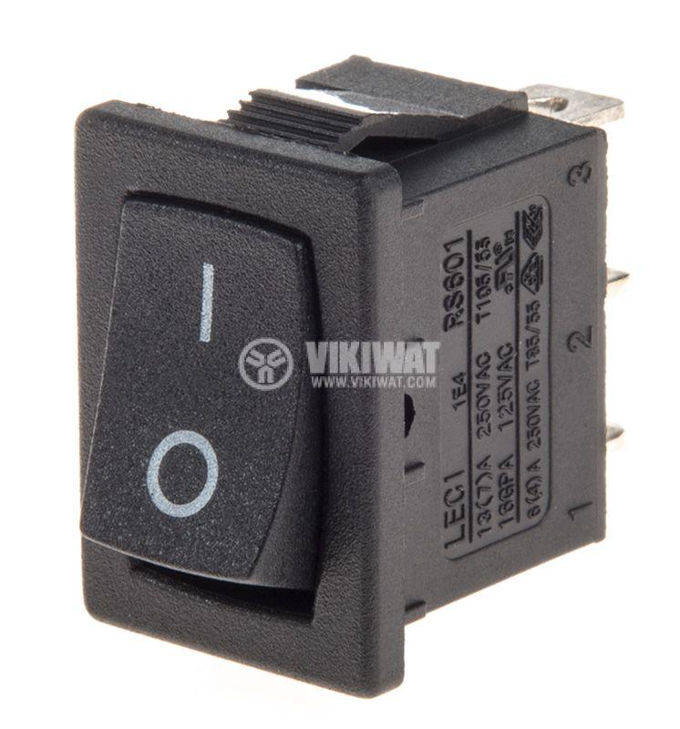 Rocker Switch, 2-position, ON-ON, 10A/250VAC, hole size 19x13mm - 1